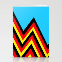 Black And Red And Yellow… Stationery Cards