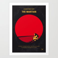 No620 My The Martian minimal movie poster Art Print