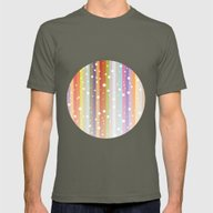 Snow Falls On The Rainbo… Mens Fitted Tee Lieutenant SMALL