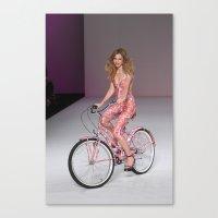 Girls on Bikes Canvas Print