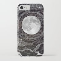 clouds iPhone & iPod Cases featuring Moon Glow by brenda erickson