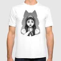 Little Red Riding Hood's Surprise Mens Fitted Tee White SMALL
