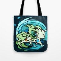Water fox Tote Bag
