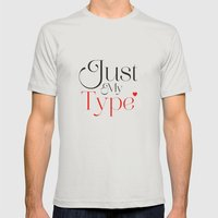 Just My Type Mens Fitted Tee Silver SMALL