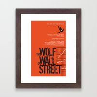 The Wolf of Wall Street  Framed Art Print