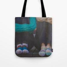 wool socks. Tote Bag