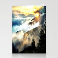 mountains Stationery Cards featuring Sunrise mountains by 2sweet4words Designs