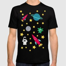 Space Objective Mens Fitted Tee SMALL Black