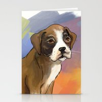 Sitting Boxer Stationery Cards