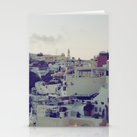 Fira At Dusk IV Stationery Cards