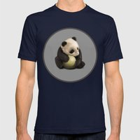 Baby Panda Mens Fitted Tee Navy SMALL
