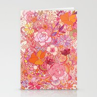 Detailed summer floral pattern Stationery Cards