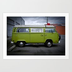industrial strength green (Curbside VW photo series) Art Print
