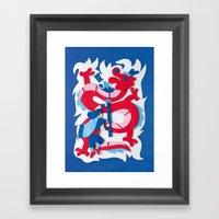 Dragon Slayer Framed Art Print