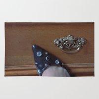 Rhinestoned Right Shoe Rug