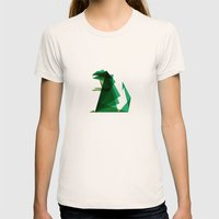 G-ZILLA Womens Fitted Tee Natural SMALL