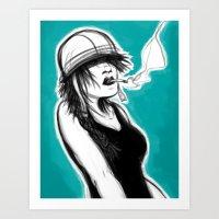 Safety First (Teal) Art Print