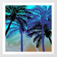 L.A. Sunset Art Print
