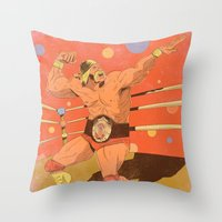 The Hulkster! Throw Pillow