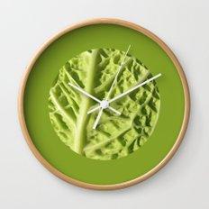 green savoy cabbage II Wall Clock