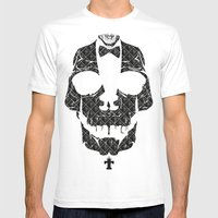 TML SKULLIFASHION Mens Fitted Tee White SMALL