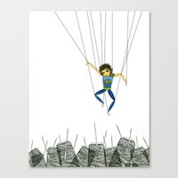 Marionette Boy Canvas Print