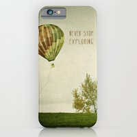 Never Stop Exploring ( Air Balloon) iPhone 6 Slim Case