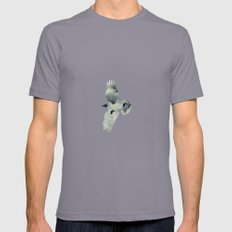 BIRDS DREAM II Mens Fitted Tee Slate SMALL