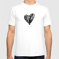 HEARTS Mens Fitted Tee White SMALL