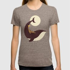 The Giraffe & The Whale Womens Fitted Tee Tri-Coffee SMALL