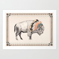 White Bison Art Print