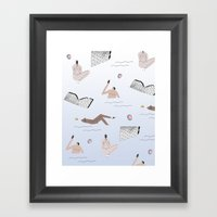 sprang break Framed Art Print