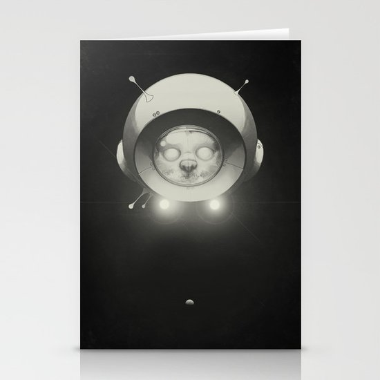 Space Kitty Stationery Card