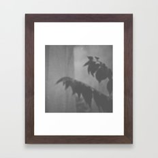 Trapped Behind The Window - B/W Framed Art Print