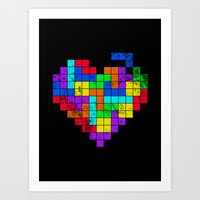 The Game of Love -Dark version Art Print