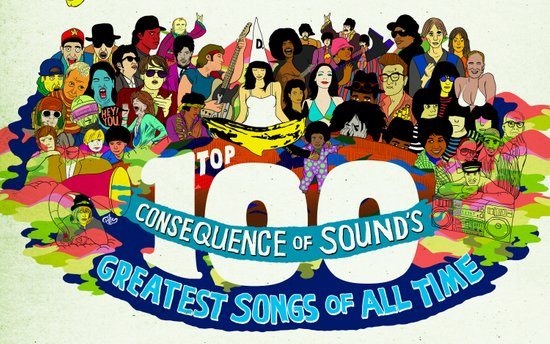 """Top 100 Greatest Songs of All Time"" by Steven Fiche Canvas Print"