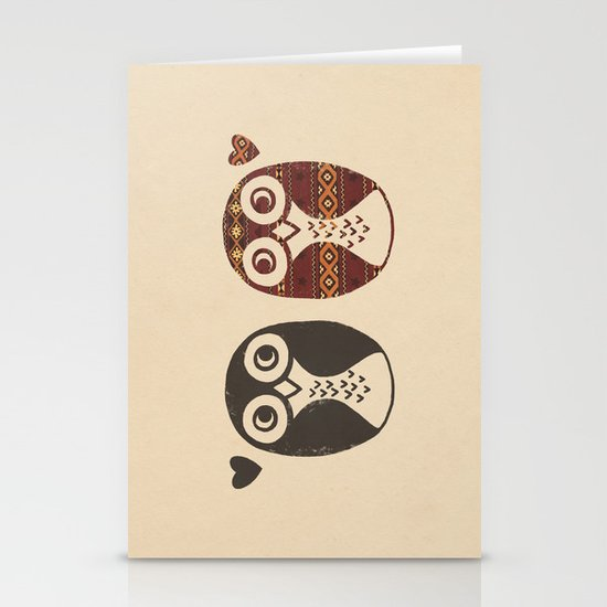 Opposites Attract Stationery Card