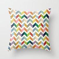 Vintage Chevron - Color … Throw Pillow