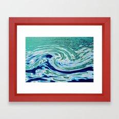 OCEAN ABSTRACT 2 Framed Art Print