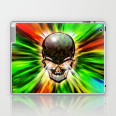 Crystal Skull on Psychedelic Flames Laptop & iPad Skin