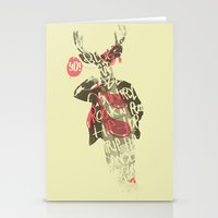 Yo! Deer Music Man Stationery Cards