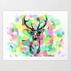 Deer are people too Art Print