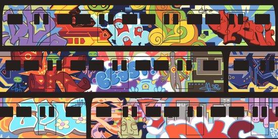 Painted Trains Art Print