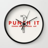 Punch It - Zombie Surviv… Wall Clock