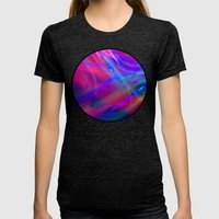 Colour Abstract Womens Fitted Tee Tri-Black SMALL
