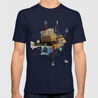 Collage City Mix 1 Mens Fitted Tee Navy SMALL