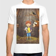 Little Boy With The Anim… Mens Fitted Tee White SMALL