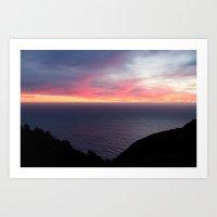 Sunset Over The Ocean 2 Art Print