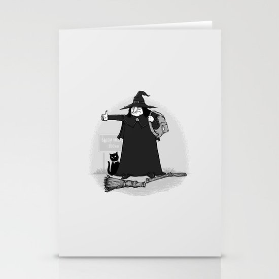 Witch Hiker Stationery Card