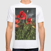 Royal Marine Remembrance Mens Fitted Tee Ash Grey SMALL